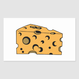 Hunk of Swiss Cheese Rectangle Stickers