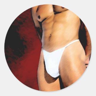 Hunk Round Sticker