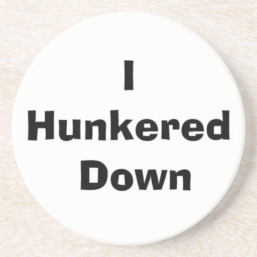 Hunker abajo el práctico de costa posavasos manualidades