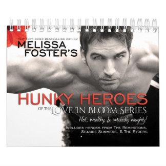 Hunky Heroes of the Love in Bloom Series Calendar