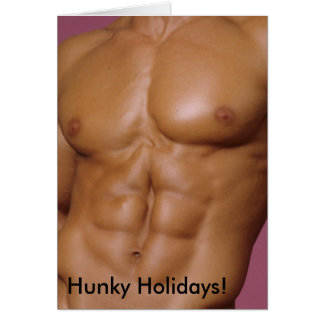 Hunky Holidays Greeting Card No. 4