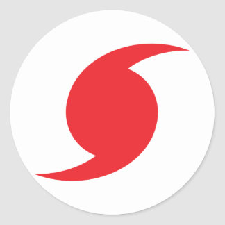 Hunnicane Symbol Classic Round Sticker