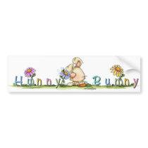 Hunny Bunny sticker bumper sticker