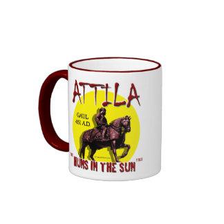 Huns de Attila 'en la taza del viaje de Sun