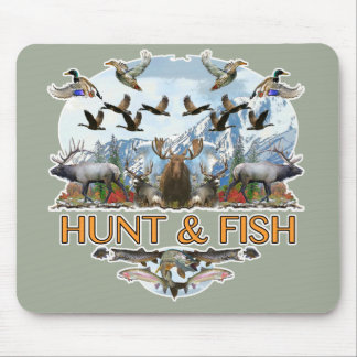 Hunt and fish mouse pad
