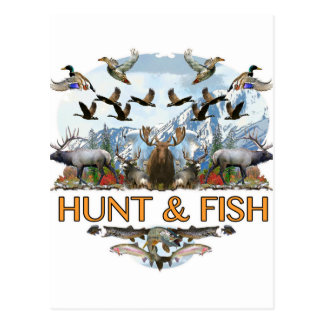 Hunt and fish postcard