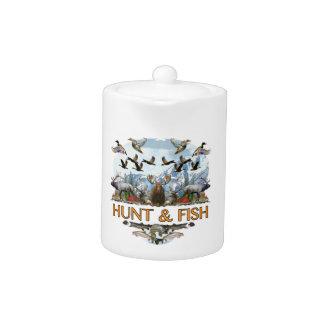 Hunt and fish teapot