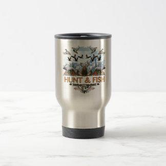 Hunt and fish travel mug
