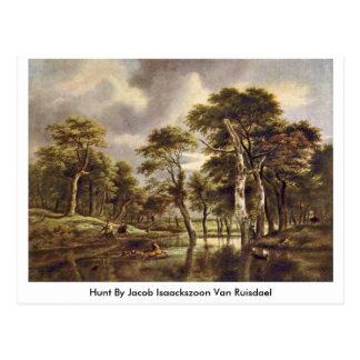 Hunt By Jacob Isaackszoon Van Ruisdael Postcard