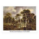 Hunt By Jacob Isaackszoon Van Ruisdael Postcards