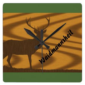 Hunt clock deer Waidmannsheil