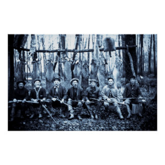 Hunt Club 1911 Vintage Deer Hunters Print