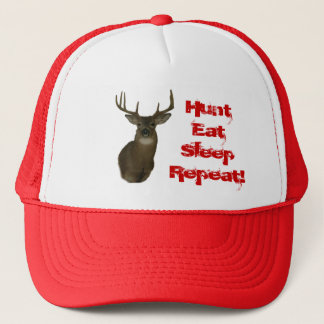 Hunt Eat Sleep Repeat Deer  Hunter Hat