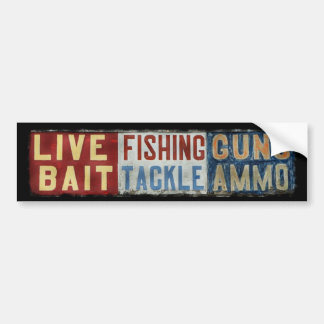 """""""Hunt! Fish!"""" by James Lady Bumper Stickers"""
