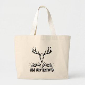 Hunt Hard. Hunt Often Canvas Bags