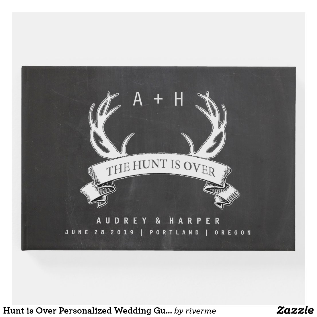 Hunt is Over Personalized Wedding Guest Book