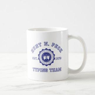 Hunt N. Peck school crest in blue Coffee Mug