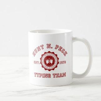 Hunt N. Peck school crest in red Mug