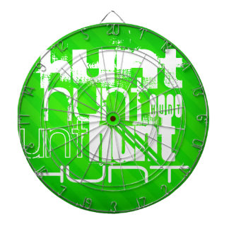 Hunt; Neon Green Stripes Dart Board
