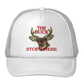 Hunt The Buck Stops Here Trucker Hat