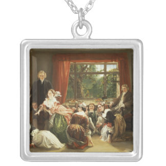 Hunt the Slipper at Neighbour Flamborough's Silver Plated Necklace