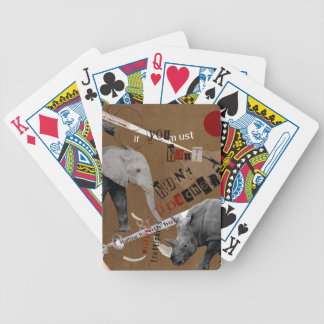 Hunt Wildlife Poachers Bicycle Playing Cards