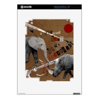 Hunt Wildlife Poachers Decals For The iPad 2