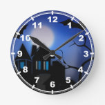 Hunted House Round Wall Clock