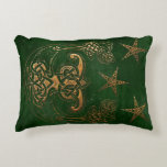 Hunter and Gold Celtic Accent Pillow