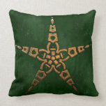 Hunter and Gold Celtic Throw Pillow