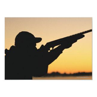 Hunter and Gun 5x7 Paper Invitation Card