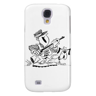 Hunter and Gun Dog Cartoon Galaxy S4 Cases