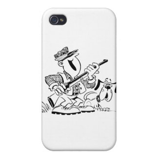 Hunter and Gun Dog Cartoon Covers For iPhone 4