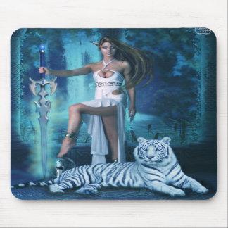 Hunter and Pet Tiger 1 (Mousepad) Mouse Pad