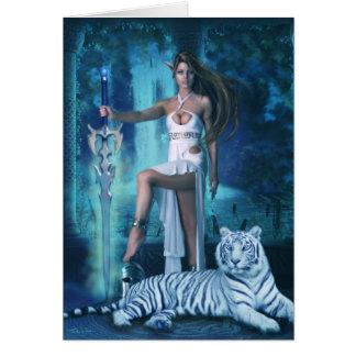 Hunter and Pet Tiger 2 (Card) Card