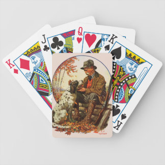 Hunter and Spaniel Bicycle Playing Cards