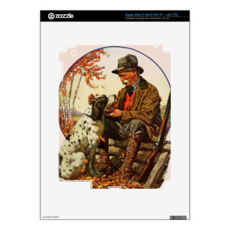 Hunter and Spaniel Decals For iPad 3