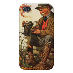 Case Savvy iPhone 4 Matte Finish Case with Springer Spaniel Phone Cases design