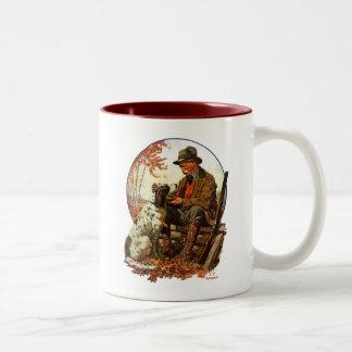 Hunter and Spaniel Two-Tone Coffee Mug