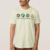 Hunter Angler Gardener Cook T-Shirt (white)