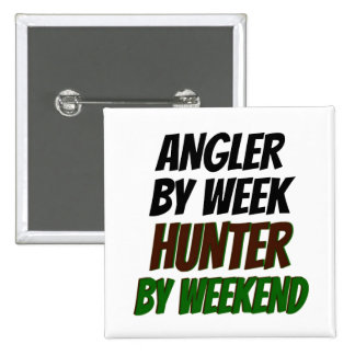 Hunter Angler Pinback Button
