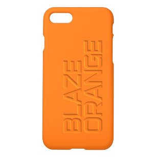 pretty nice 956b5 fbc89 Hunter Blaze Orange High Visibility Hunting iPhone 8/7 Case