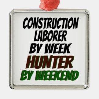 Hunter Construction Laborer Christmas Ornaments