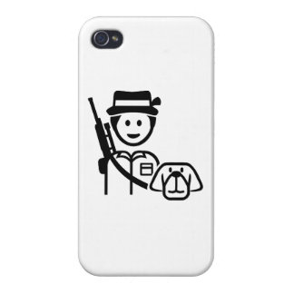 Hunter dog icon iPhone 4 cover