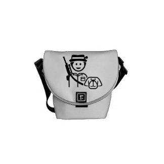 Hunter dog icon messenger bags