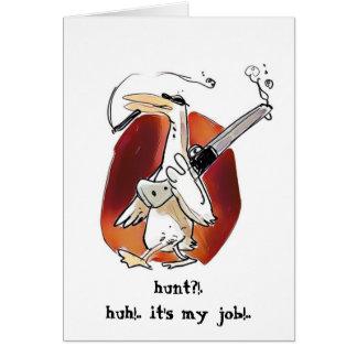 hunter duck funny cartoon card