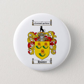 HUNTER FAMILY CREST -  HUNTER COAT OF ARMS BUTTON