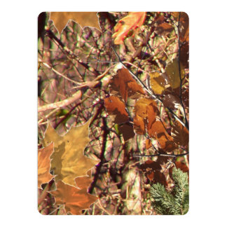 Hunter Forest Camouflage Painting Customize This 6.5x8.75 Paper Invitation Card
