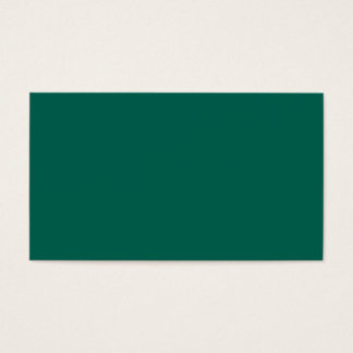 Hunter Forest Green Personalized Color Background Business Card