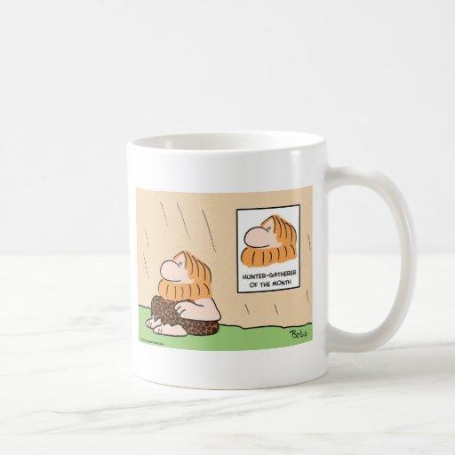 hunter gatherer month caveman mugs
